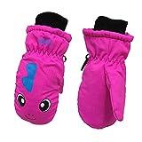 Kids Ski Gloves Warm Outdoor Sports Gloves, Lined Waterproof Windproof Winter Snow Ski Mittens for Boy Girl