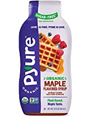 Organic Maple Syrup Alternative by Pyure   Sugar-Free, Keto, Low Carb   14 Fluid Ounce