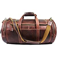 Leather Travel Duffle Barrel Bag (Multiple Colors)