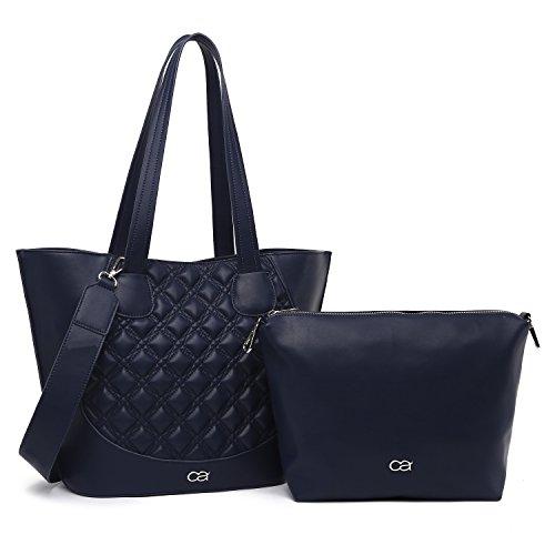 Bolso elegantemente elegante XL, bandolera 2 en 1 de collezione alessandro, aproximadamente 45x30x16.5 - bolsa acolchada - mujeres