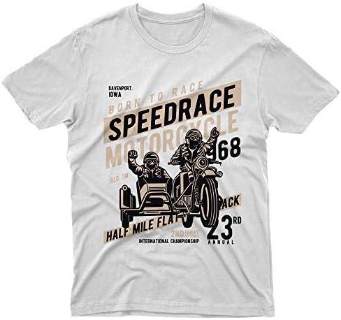 S fm10 t-Shirt Speed Race Moto de Side-Car Motorrad Cadeau Moteurs Bianco