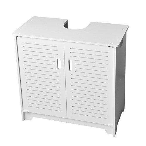 White Under Sink Bathroom Cabinet Vanity Basin Storage Cupboard