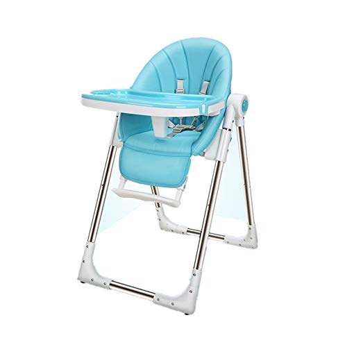 Afdgsjyu-Baby Care Home Restaurants Junior Chair Multifunctional Children's Dining Chair Child Seat Easy to Clean (Color : Blue)
