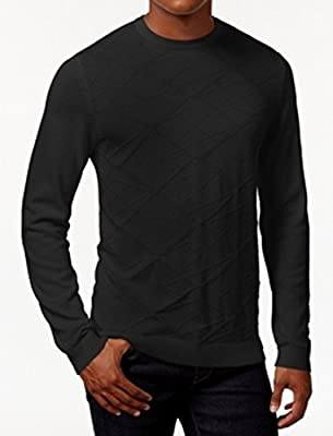 Calvin Klein Mens Large Textured Crewneck Sweater