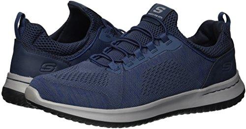 Brewton Men's USA Fit 5 Relaxed 7 Blue Delson Skechers US Men's M Sneaker EaYwqdAAn