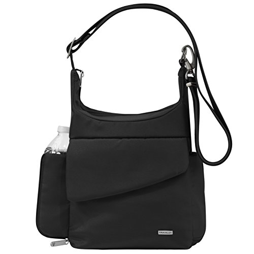 Travelon Anti-Theft Classic Messenger Bag, Black, One Size from Travelon