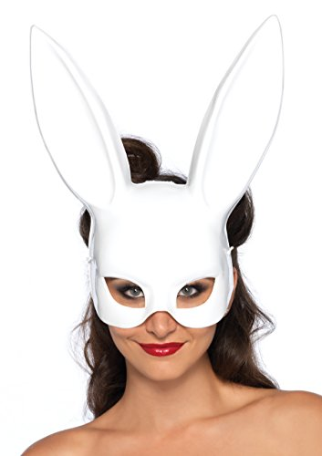 White Rabbit Costume Ladies (Leg Avenue Women's Masquerade Rabbit Mask Costume Accessory, White, One Size)