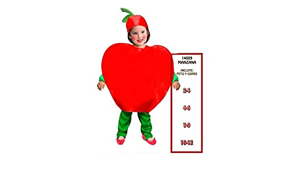 PARTYLAND Disfraz infantil manzana: Amazon.es: Juguetes y juegos