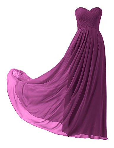 Remedios A-Line Chiffon Bridesmaid Dress Strapless Long Prom Evening Gown, #38a Dark - Delivery Free Womens