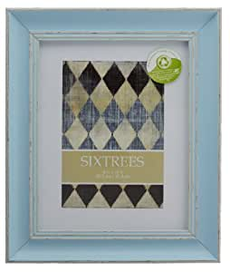 """Shabby Chic Distressed Photo Frames for 6""""x4"""" (150x100mm) to 10""""x8"""" (250x200mm) Pictures - Naturelle, Bleu & Blanc by Sixtrees."""