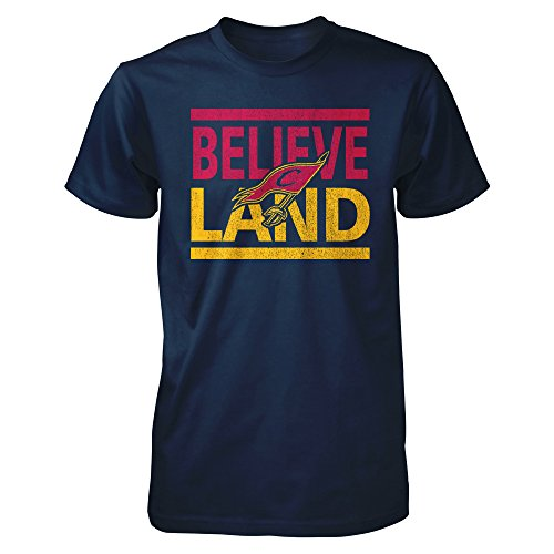 Tee Zone Cleveland City Believeland Men's T Shirt (M, Navy)