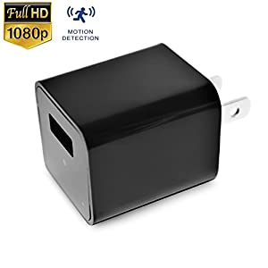 USB Wall Charger Hidden Camera 1080P Spy Camera Charger Adapter Plug with Motion Detection Loop recording, Supports 32 GB Internal Memory