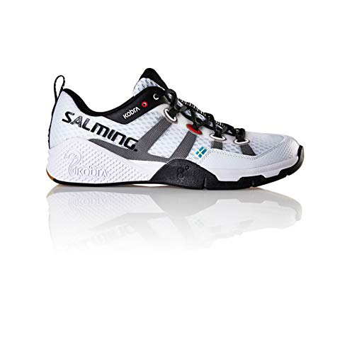 - Salming Men's Kobra 2 Squash Indoor Court Sports Shoes, White, 11.5