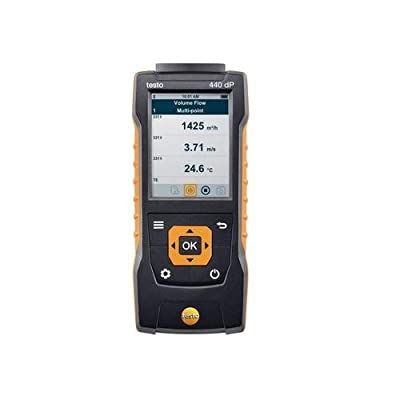Testo 0560 4402, 440 DP Air Velocity & IAQ Measuring Instrument with Differential Pressure, 1 pc