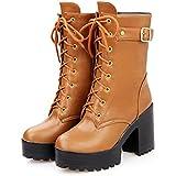 SaraIris Women's Chunky Heel with Platform...