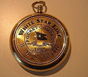 NAUTICALMART RMS Titanic 1912 Brass Pocket Compass! Beautiful Working Model. New! by NAUTICALMART