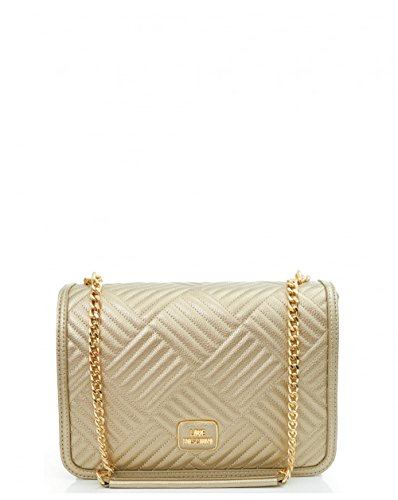 Love Moschino Accessories Chevron Chain Shoulder Bag One Size GOLD