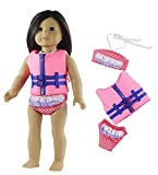 HongShun Fashion Doll Clothes Swimsuit Life jacket Outfit for 18