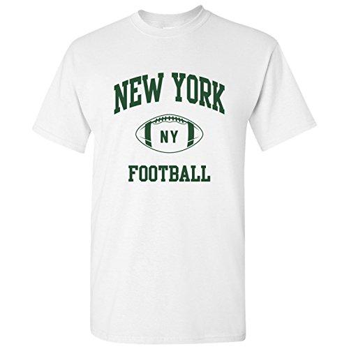 York Classic Football Arch Basic Cotton T-Shirt - Medium - White/Green