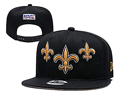 NFHACC Adult Men's New Orleans Saints Logo Snapback Cap Adjustable Hat