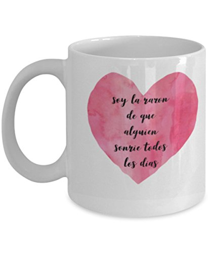 Soy la razon | AFIRMACIONES Taza cafe, tazas para caf divertidas, tazas de caf personalizadas, taza de caf inspiradoras, taza grande de cafe con mensajes positivos ENVIO GRATIS