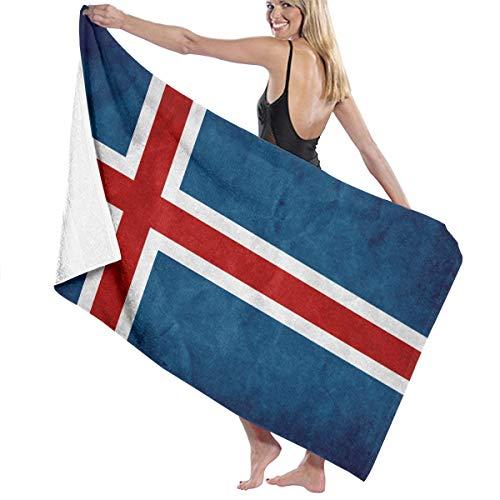 無駄だメンバー方言ビーチバスタオル バスタオル アイスランドの国旗 風呂 海水浴 旅行用タオル 多用途 おしゃれ White