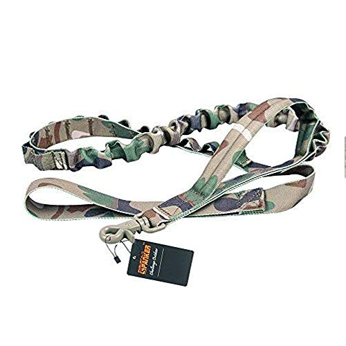 EXCELLENT ELITE SPANKER Tactical Bungee Dog Leash Military Adjustable Dog Leash Quick Release Elastic Leads Rope with 2 Control Handle(MCP)
