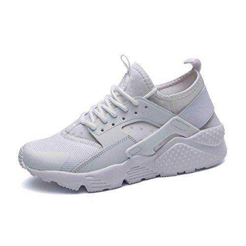 Qianliuk Frau Basketball Sneakers Mesh-Plattform Laufschuhe Casual Shoes Weiß