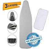 Petask Ironing Board Cover and Pad, Silicone Coated Resists Scorching and Staining Ironing Board Pads with Elastic Edges, 15'x54'