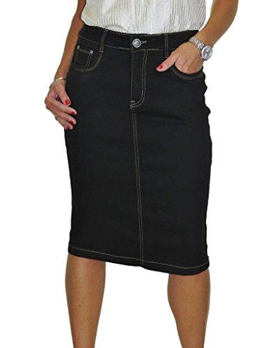 Lavage Noir Jupe Douceur 50 en Ice Stretch 36 Jeans qB7HxS64