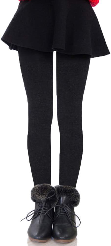 Runyue Leggings con Falda para Niña Térmico Pantalones de Invierno Cómodo Cálida Elásticos Leggins Largos: Amazon.es: Deportes y aire libre