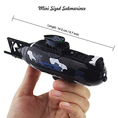 Tipmant Mini RC Submarine Radio Remote Control Boat Ship Military Model Electronic Water Toy Waterproof Diving Kids Gift: Toys & Games