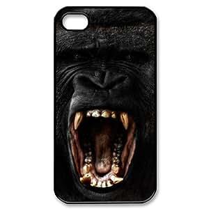 Customized Durable Case for Iphone 4,4S, Black Gorilla Phone Case - HL-704025