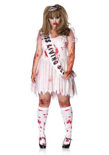 Leg Avenue Women's 3 Piece Putrid Prom Queen Costume, Pink, X-Large/XX-Large - Zombie Prom Queen Womens Costumes