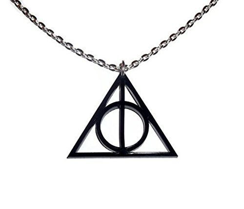 Deathly Hallows Symbol Necklace Harry Potter Laser Cut Pendent