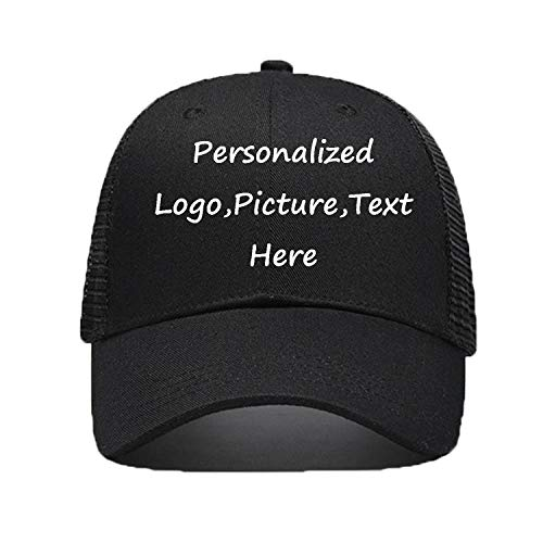 Personalized Snapback Trucker Hats Custom Unisex Mesh Outdoors Baseball Caps