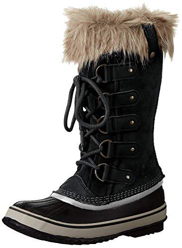 Sorel Women's Joan of Arctic Boot, Black, Stone, 7.5 M US