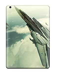 Protective Tpu Case With Fashion Design For Ipad Air (f-14 Military)