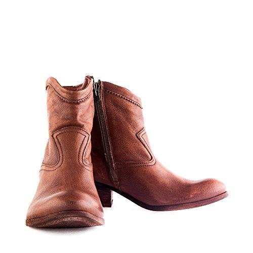 Felmini - Zapatos para Mujer - Enamorarse com Demi 8318 - Botas Cowboy & Biker - Cuero Genuino - Marrón - 0 EU Size Marrón