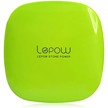 Lepow Portable Charger Power Bank 6000mAh Ultra Compact External Battery with High Speed Charging Technology for Apple iPad, iPhone, Samsung Galaxy and more (Apple Green)