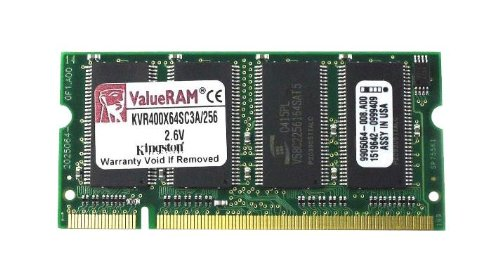 Kingston 256MB SODIMM DDR400 CL333 VR ( KVR400X64SC3A/256 (Sodimm Ddr400 Pc 3200 Notebook)