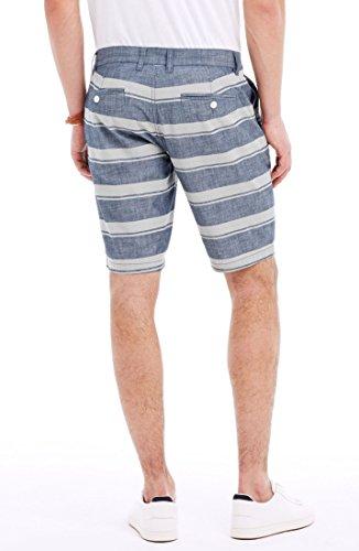 Armani Exchange Mens Striped Chambray Short