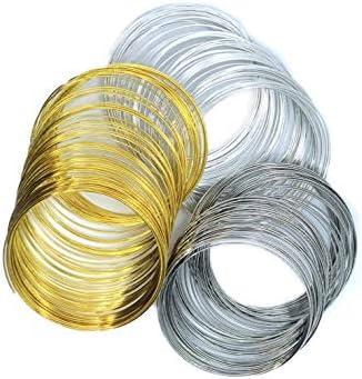 dorado 60 bobinas de alambre de memoria de 55 mm x 0,6 mm colores platino dorado plateado
