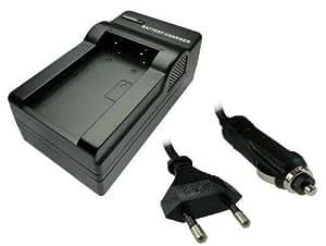 Cargador de batería cargador con adaptador para coche para Sony NP-FC10 NP-FC11 NP-F-C10 NP-F-C11 Sony DSC-P2 DSC-P3 DSC-P5 DSC-P7 DSC-P8 DSC-P9 DSC-P10 DSC-P12 DSC-F77 DSC-FX77 DSC-V1 DSC-P-2 DSC-P-3 DSC-P-5 DSC-P-7
