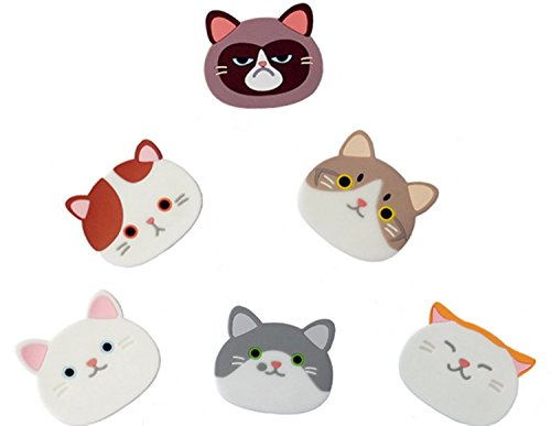 NKitchen Cute Cat Cup Mat Silicone Coaster,Set of 6