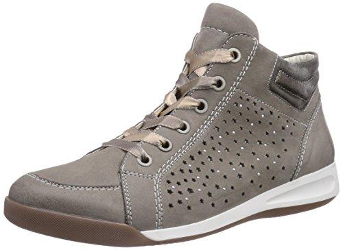 ara Rom - botas de caño bajo de cuero mujer gris - Grau (grigio,taupe 06)