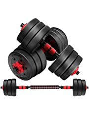 Adjustable Dumbbells Weights Barbells with Rack Exercise & Fitness Dumbbells Set for Home Gym Equipment Workouts Strength Training Free Weights for Women, Men