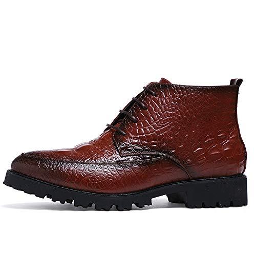Color uomo 38 Oxford Business Crocodile Scarpe Nero Uomo casual Marrone Avant Dimensione Tattoo Pelle garde da shoes EU Fashion Trend Xiaojuan Stivaletti wagqBcSAHx