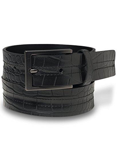 Calvin Klein Embossed Belt (Calvin Klein Belt, Crocodile-embossed Leather Black)