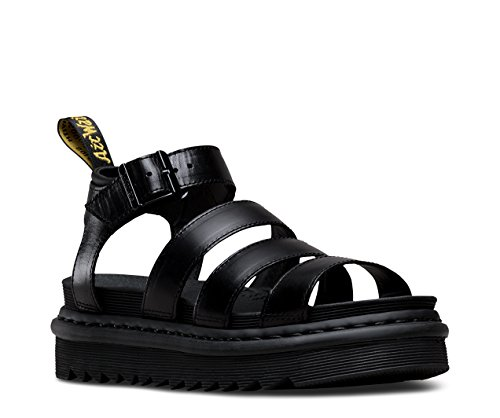 Dr. Martens Women's Blaire Fisherman Sandal, Black Brando Leather, 6 Medium UK (8 US) ()